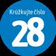 krúžkujte číslo 28